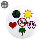 "6 Symbol Anti-McCain 3.5"" Button (10)"
