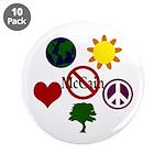 "6 Symbol Anti-McCain 3.5"" Button (10)"