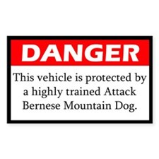 Danger Bernese Mountain Dog Decal