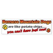 Potato Chips Bernese Mountain Dog Bumper Bumper Sticker