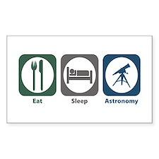 Eat Sleep Astronomy Rectangle Decal