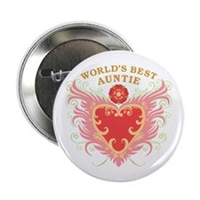 "World's Best Auntie 2.25"" Button"
