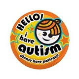 "Hello-Autism (Boy1) 3.5"" Button"