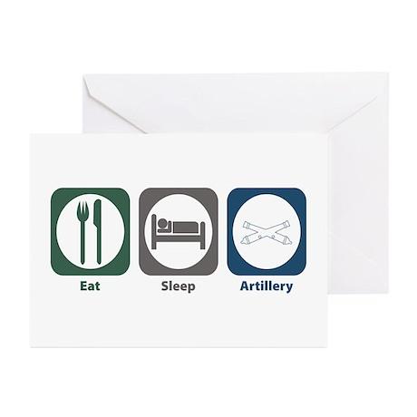 Eat Sleep Artillery Greeting Cards (Pk of 10)