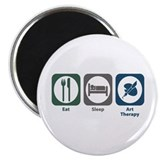 "Eat Sleep Art Therapy 2.25"" Magnet (100 pack)"
