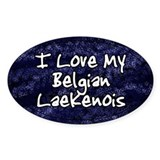 Funky Love Belgian Laekenois Oval Decal