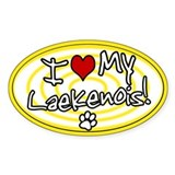Hypno I Love My Laekenois Oval Sticker Ylw
