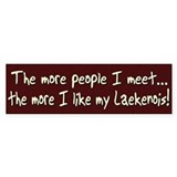 The More People Laekenois Bumper Bumper Sticker