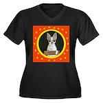 Chihuahua Puppy Women's Plus Size V-Neck Dark T-Sh