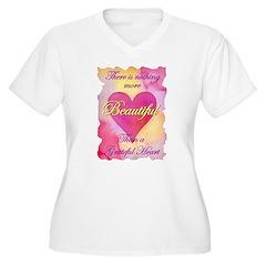 Grateful Heart Women's Plus Size V-Neck T-Shirt