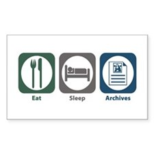 Eat Sleep Archives Rectangle Decal