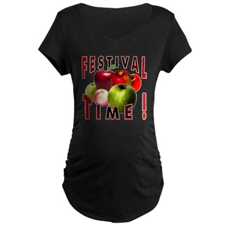 Apple Festival Time ! Maternity Dark T-Shirt