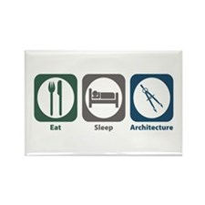 Eat Sleep Architecture Rectangle Magnet (100 pack)