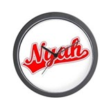Retro Nyah (Red) Wall Clock