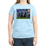 Starry / Schipperke Pair Women's Light T-Shirt