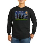 Starry / Schipperke Pair Long Sleeve Dark T-Shirt