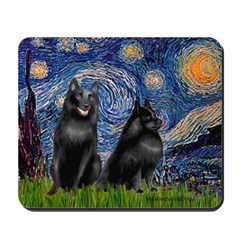 Starry / Schipperke Pair Mousepad