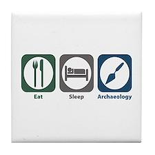 Eat Sleep Archaeology Tile Coaster