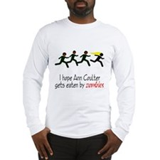 zombies chasing ann coulter Long Sleeve T-Shirt