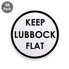 "Keep Lubbock Flat 3.5"" Button (10 pack)"