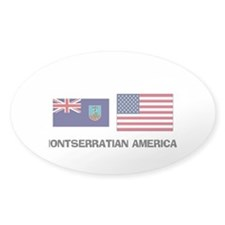 Montserratian American Oval Decal