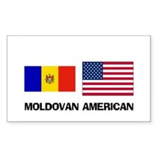 Moldovan American Rectangle Decal
