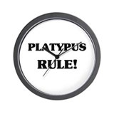 Platypus Rule Wall Clock