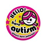 "Hello-Autism (Girl2) 3.5"" Button"