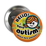 Hello-Autism (Girl1) 2.25&quot; Button