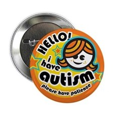 "Hello-Autism (Girl1) 2.25"" Button"