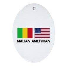 Malian American Oval Ornament