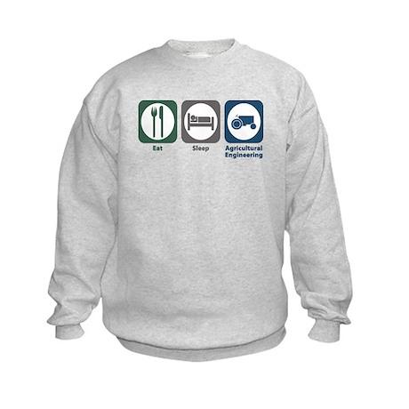 Eat Sleep Agricultural Engineering Kids Sweatshirt