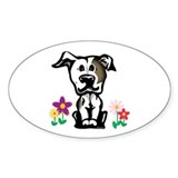 Spring Pit Bull Oval Decal