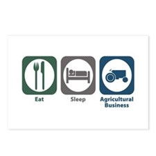 Eat Sleep Agricultural Business Postcards (Package