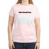 100% Steroid Free! (Red Versi Women's Pink T-Shirt