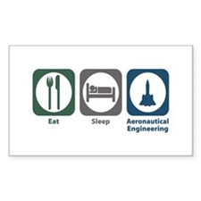 Eat Sleep Aeronautical Engineering Decal