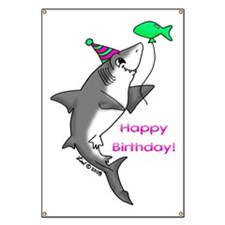 Birthday Shark Banner
