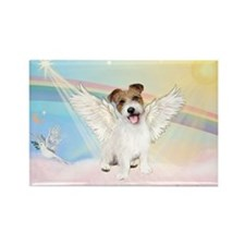 Angel / Jack Russell Terrier Rectangle Magnet