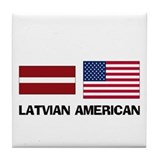 Latvian American Tile Coaster