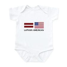 Latvian American Infant Bodysuit