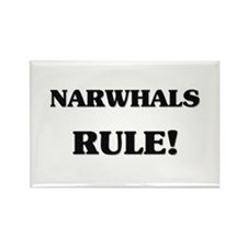Narwhals Rule Rectangle Magnet (10 pack)