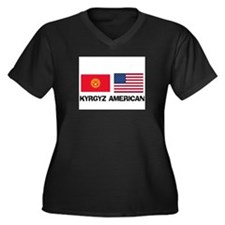 Unique Kyrgyz girls Women's Plus Size V-Neck Dark T-Shirt