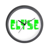 Elyse Faded (Green) Wall Clock