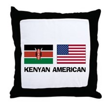 Kenyan American Throw Pillow