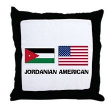 Jordanian American Throw Pillow