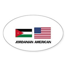 Jordanian American Oval Decal
