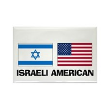 Israeli American Rectangle Magnet (10 pack)