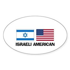 Israeli American Oval Decal