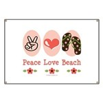 Peace Love Beach Flip Flop Banner