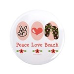 Peace Love Beach Flip Flop 3.5